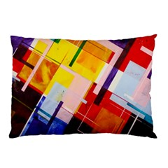Abstract Lines Shapes Colorful Pillow Case