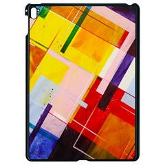 Abstract Lines Shapes Colorful Apple Ipad Pro 9 7   Black Seamless Case by Vaneshart