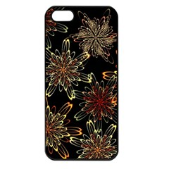 Patterns Abstract Flowers Iphone 5 Seamless Case (black)