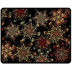Patterns Abstract Flowers Double Sided Fleece Blanket (medium)