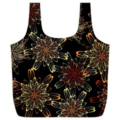 Patterns Abstract Flowers Full Print Recycle Bag (xl)