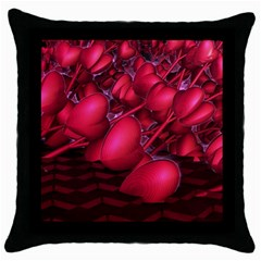 Heart Abstract Shape Pink Light Throw Pillow Case (black) by Vaneshart