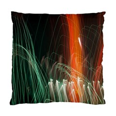 Fireworks Salute Sparks Abstract Lines Standard Cushion Case (one Side) by Vaneshart