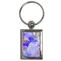 Flowers Abstract Colorful Art Key Chain (rectangle) by Vaneshart