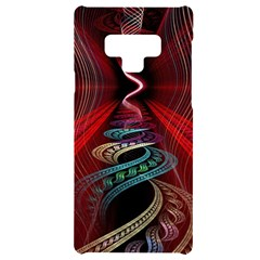 Patterns Red Abstract Samsung Note 9 Black Uv Print Case  by Vaneshart