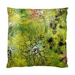 Abstract Spots Lines Green Standard Cushion Case (two Sides)