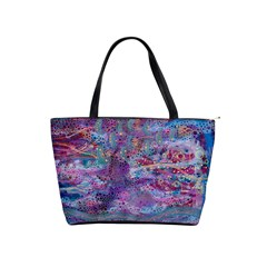 Stains Circles Watercolor Colorful Abstract Classic Shoulder Handbag by Vaneshart