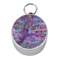 Stains Circles Watercolor Colorful Abstract Mini Silver Compasses