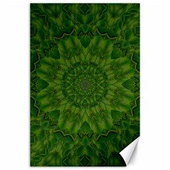 Fauna Nature Ornate Leaf Canvas 24  X 36  by pepitasart