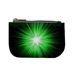Green Blast Background Mini Coin Purse