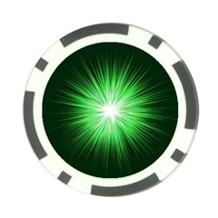 Green Blast Background Poker Chip Card Guard
