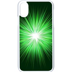 Green Blast Background Iphone X Seamless Case (white)