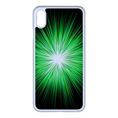 Green Blast Background Iphone Xs Max Seamless Case (white)