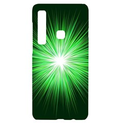 Green Blast Background Samsung A9 Black Uv Print Case