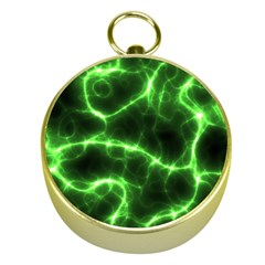 Lightning Electricity Pattern Green Gold Compasses