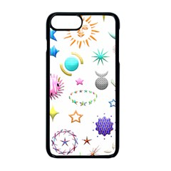 Shapes Stars Moon Sun Pattern Iphone 8 Plus Seamless Case (black)