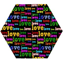 Love 3 Wooden Puzzle Hexagon by ArtworkByPatrick