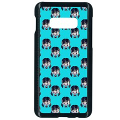 Forest Girl Bight Baby Blue Patttern Samsung Galaxy S10e Seamless Case (black)