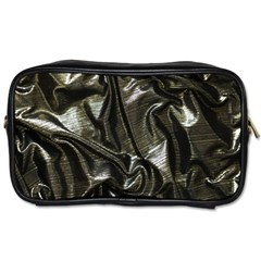 Metallic Silver Satin Toiletries Bag (one Side) by retrotoomoderndesigns