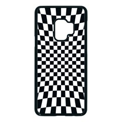 Illusion Checkerboard Black And White Pattern Samsung Galaxy S9 Seamless Case(black)