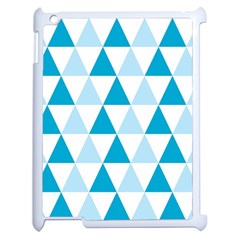 Abstract Modern Background Blue Apple Ipad 2 Case (white)