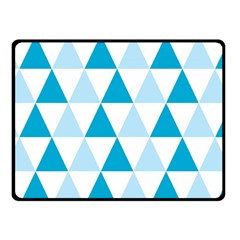 Abstract Modern Background Blue Double Sided Fleece Blanket (small)