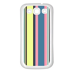 Stripes Colorful Wallpaper Seamless Samsung Galaxy S3 Back Case (white)