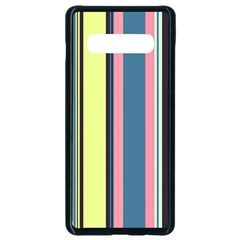 Stripes Colorful Wallpaper Seamless Samsung Galaxy S10 Plus Seamless Case (black)