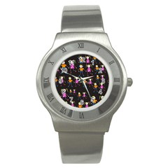 Seamless Tile Background Stainless Steel Watch by Vaneshart
