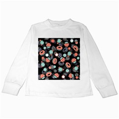 Seamless Sweets Background Kids Long Sleeve T-shirts