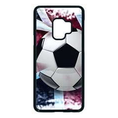 Soccer Ball With Great Britain Flag Samsung Galaxy S9 Seamless Case(black) by Vaneshart