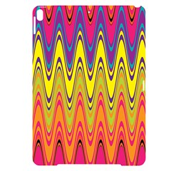 Retro Colorful Waves Background Apple Ipad Pro 10 5   Black Uv Print Case