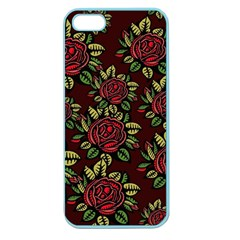 Flower Seamless Tile Background Apple Seamless Iphone 5 Case (color)