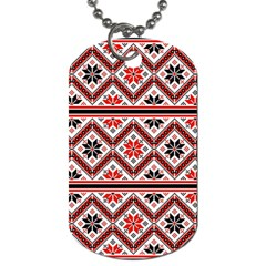 Folklore Ethnic Pattern Background Dog Tag (two Sides) by Vaneshart