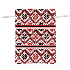 Folklore Ethnic Pattern Background  Lightweight Drawstring Pouch (xl)