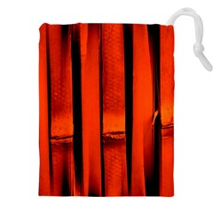 Orange Seamless Bamboo Background Drawstring Pouch (xxxl) by Vaneshart