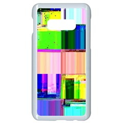 Glitch Art Abstract Samsung Galaxy S10e Seamless Case (white) by Vaneshart
