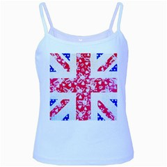 British Flag Abstract Baby Blue Spaghetti Tank by Vaneshart