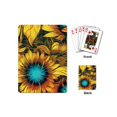 Floral Pattern Background Playing Cards Single Design (mini) by Vaneshart