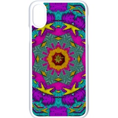 Fern  Mandala  In Strawberry Decorative Style Iphone X Seamless Case (white) by pepitasart