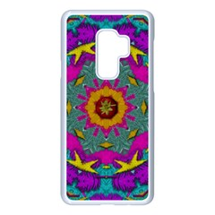 Fern  Mandala  In Strawberry Decorative Style Samsung Galaxy S9 Plus Seamless Case(white)