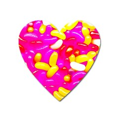 Vibrant Jelly Bean Candy Heart Magnet by essentialimage