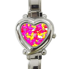 Vibrant Jelly Bean Candy Heart Italian Charm Watch by essentialimage