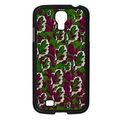 Green Fauna And Leaves In So Decorative Style Samsung Galaxy S4 I9500/ I9505 Case (black) by pepitasart