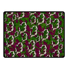 Green Fauna And Leaves In So Decorative Style Double Sided Fleece Blanket (small)  by pepitasart