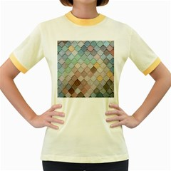 Tiles Shapes 2617112 960 720 Women s Fitted Ringer T-shirt by vintage2030