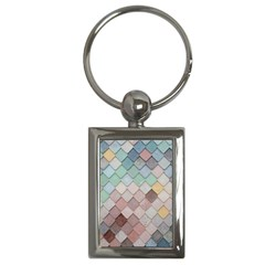 Tiles Shapes 2617112 960 720 Key Chain (rectangle) by vintage2030