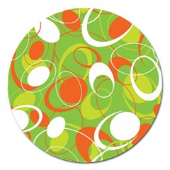 Abstract Seamless Pattern Background Magnet 5  (round)