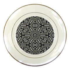 Grid Pattern Backdrop Porcelain Plates
