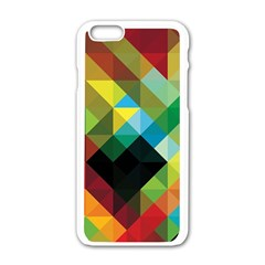 Pattern Colorful Geometry Abstract Wallpaper Iphone 6/6s White Enamel Case